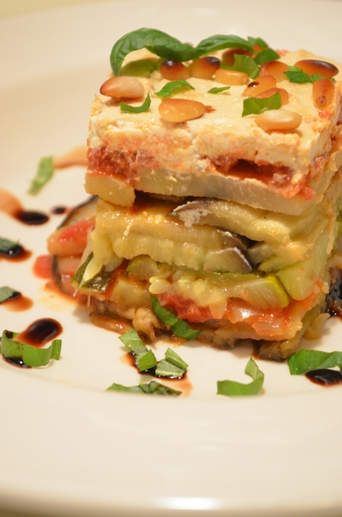 Moussaka with Pine Nut Cream