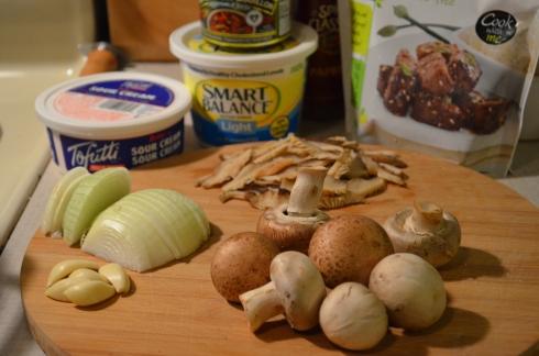 Three Mushroom Stroganoff