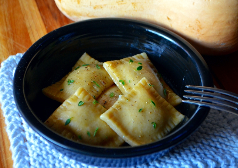 Butternut Squash Ravioli in Sage Butter Sauce