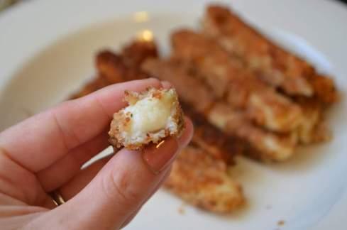Aquafaba Mozzarella Cheese Sticks