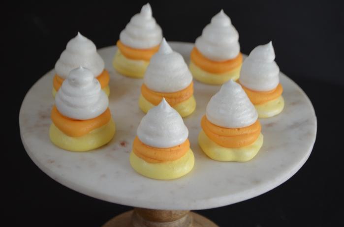 Candy Corn Meringues