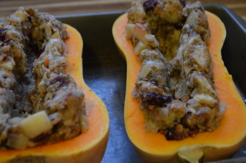 Thanksgiving Stuffed Squash | Avocados and Ales