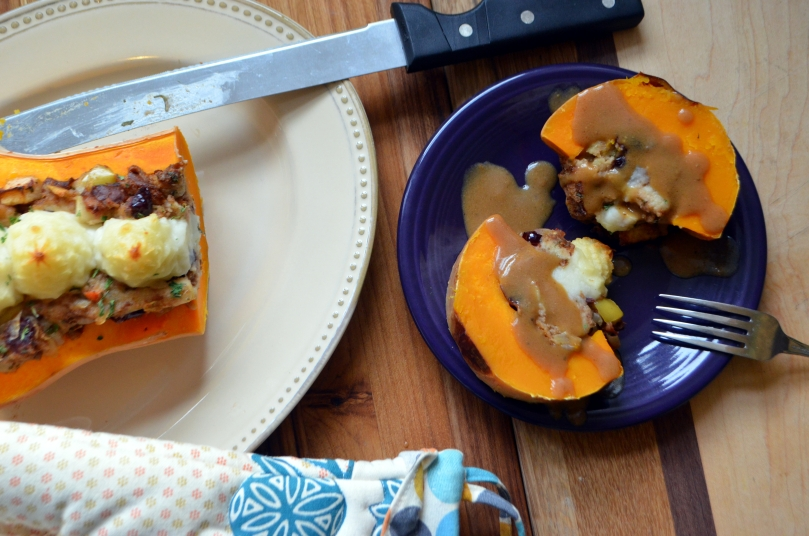 Thanksgiving Stuffed Squash| Avocados and Ales