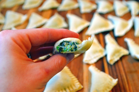 Ravioli with Cashew Spinach Ricotta